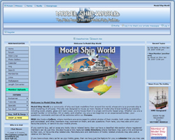 Bild på hemsidan på Model Ship World